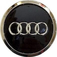Колпачок (заглушка) литого диска Audi D56 Black-chrome