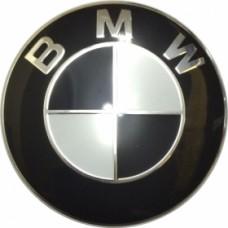 Колпачок (заглушка) литого диска BMW D65 Black-white-chrome