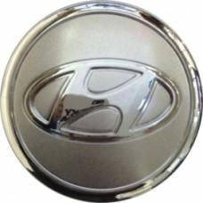 Колпачок (заглушка) литого диска Hyundai D58 Silver-chrome