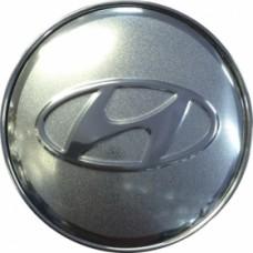 Колпачок (заглушка) литого диска Hyundai D56 Silver-Chrome