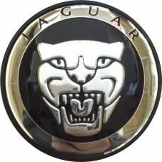 Колпачок (заглушка) литого диска Jaguar D50 Black-chrome