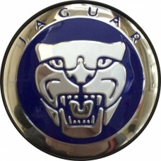 Колпачок (заглушка) литого диска Jaguar D50 Blue-chrome
