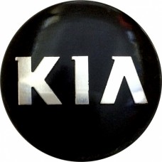 Колпачок (заглушка) литого диска Kia D50 Black-chrome