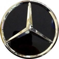 Колпачок (заглушка) литого диска Mercedes D70 Black-chrome