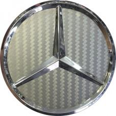 Колпачок (заглушка) литого диска Mercedes D70 Silver carbon-chrome