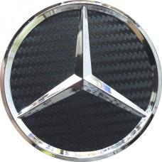 Колпачок (заглушка) литого диска Mercedes D70 Black carbon-chrome