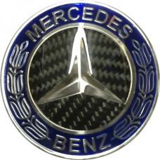 Колпачок (заглушка) литого диска Mercedes D70 Blue carbon-chrome