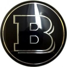 Колпачок (заглушка) литого диска Mercedes Brabus D70 Black-chrome