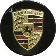 Колпачок (заглушка) литого диска Porsche D59 Black-gold